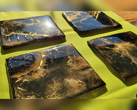 Golden Browns Coasters