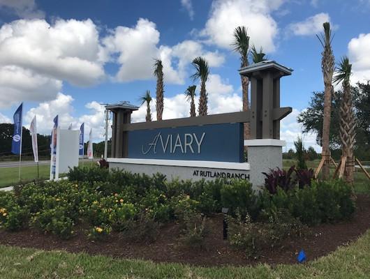 Aviary at Rutland Ranch Logo + Entry Monument