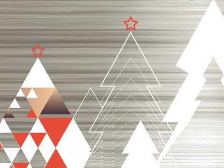 architectural christmas card design