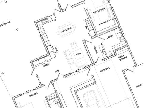 Modern Industrial Custom Residence Plan