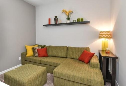 interior design retro modern guest room den