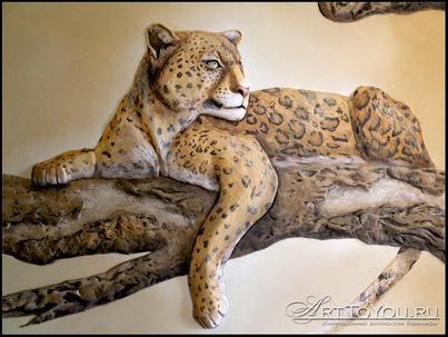 """Барельеф """" Леопард"""""""