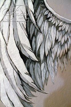 """Роспись """"крылья """" фрагмент росписи"""