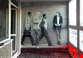 Роспись стен в кабинее