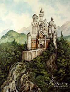 """""""Баварский замок"""" Барельеф в обеденную зону"""