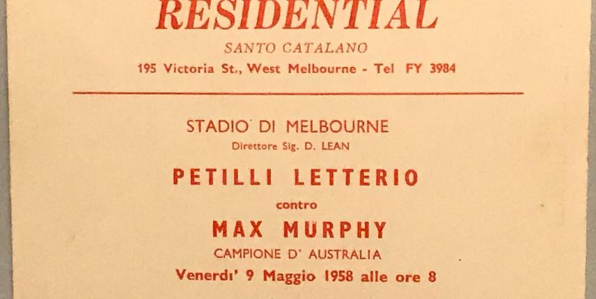 Il pugile Petilli emigrato in Australia 2