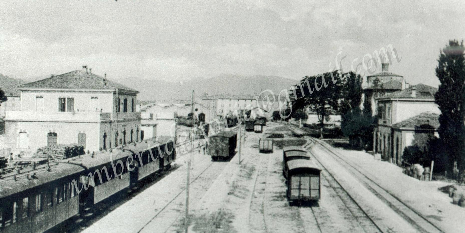 STAZIONI FERROVIARIE DI UMBERTIDE - 1916