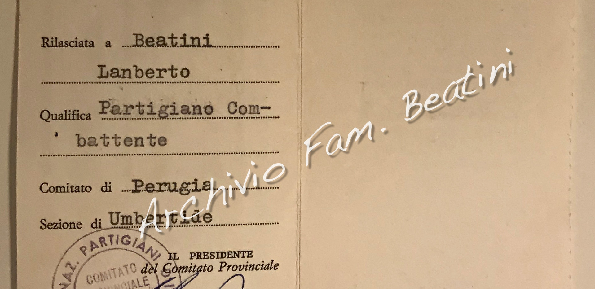 Tessera ANPI 1967
