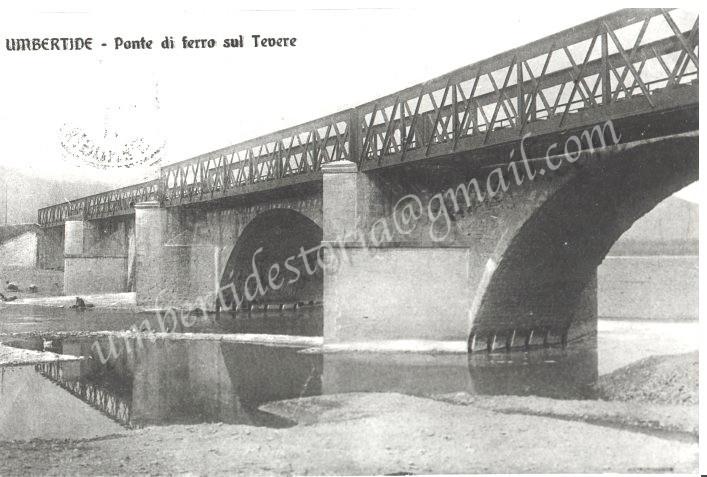 PONTE SUL TEVERE - 1911Storiche archivio