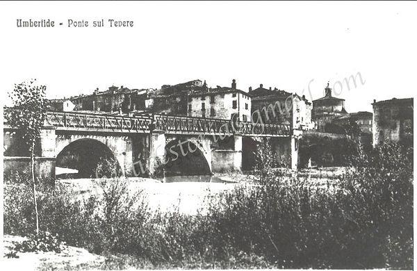 PONTE SUL TEVERE - 1900Storiche archivio