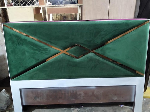 Double Bed with Green color Head