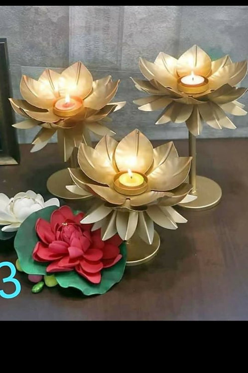 3 Fancy Diwali Candle Stand set