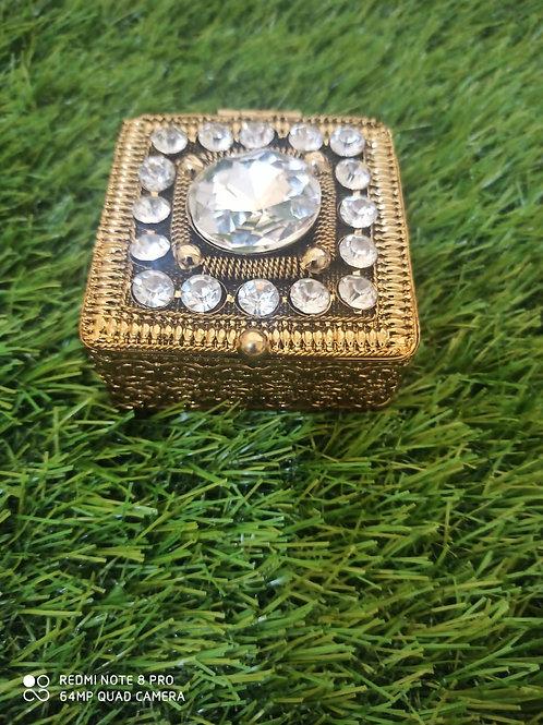 Jaipur Style Metal and Beaded Decorative Box Keeps