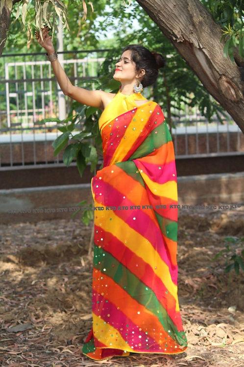 Laheriya sarees