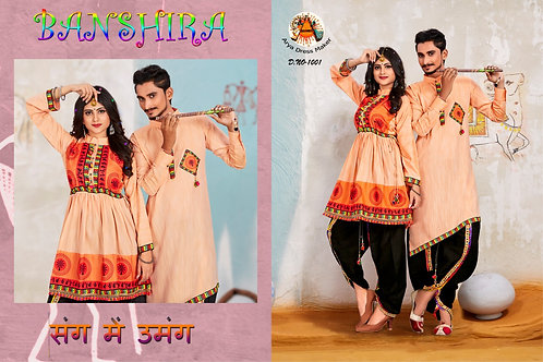 BANSIRA COMBO Navratri CoupleDress