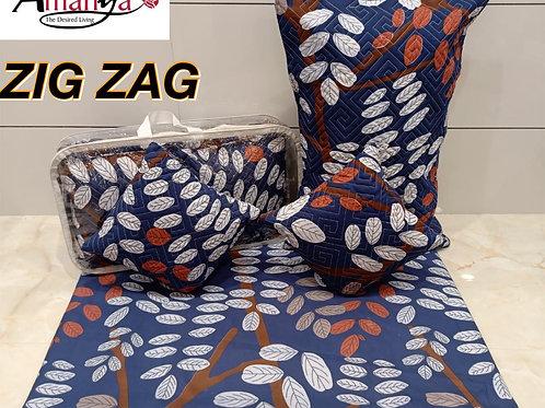 ZIG ZAG 5 piece BEDSHEET set