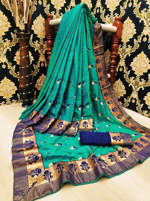 Sana silk full work saree