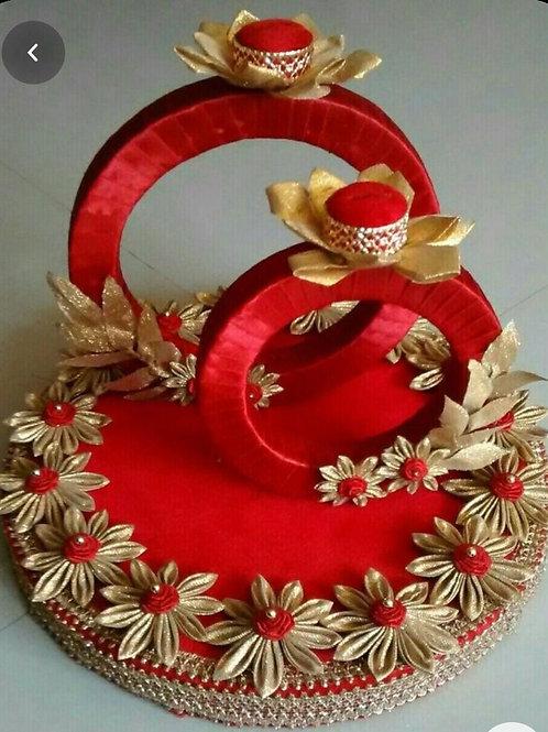 Engagement ceremony ring platter