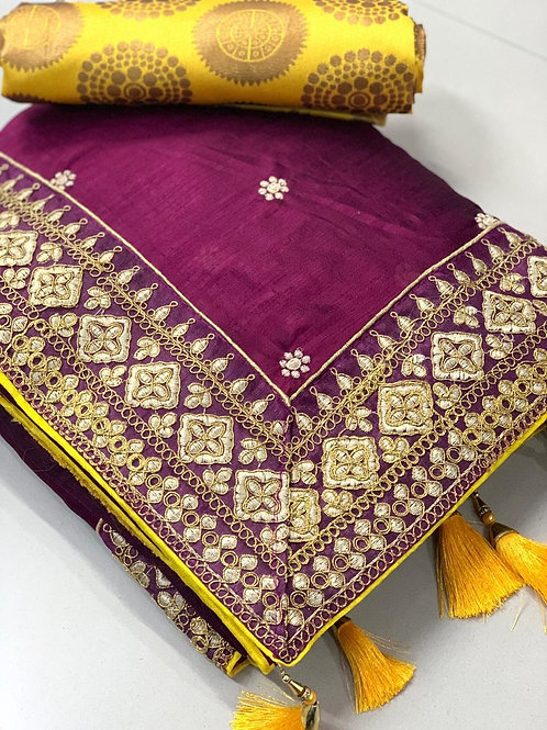Royal Vichitra Saree Fabric