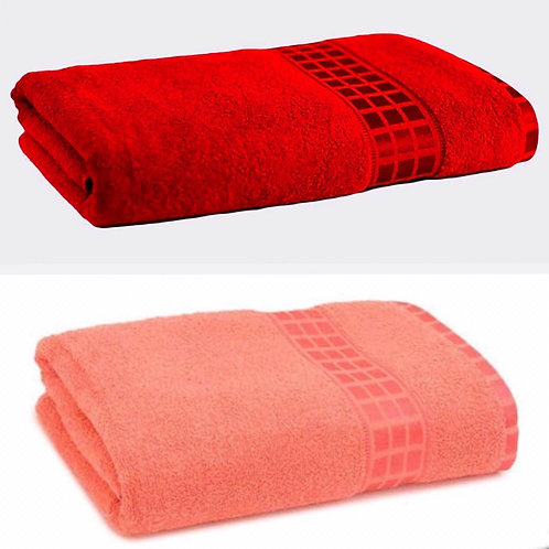 Soft  Touch  Block  Design  Border Towels