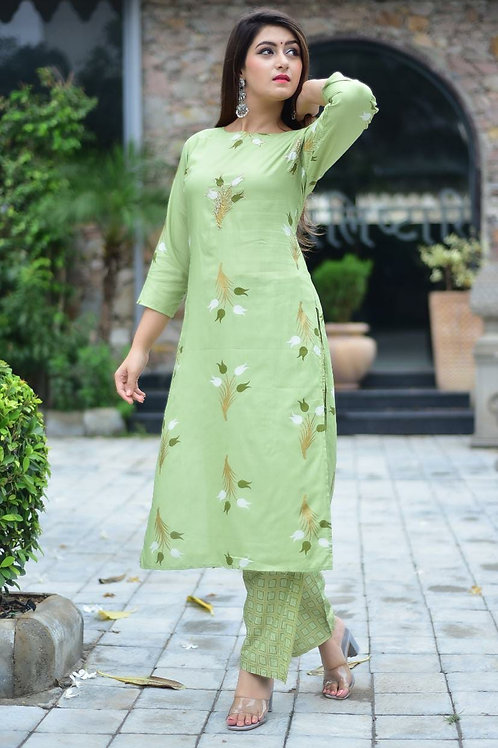 Beautiful   Rayon Kurti  With Pent