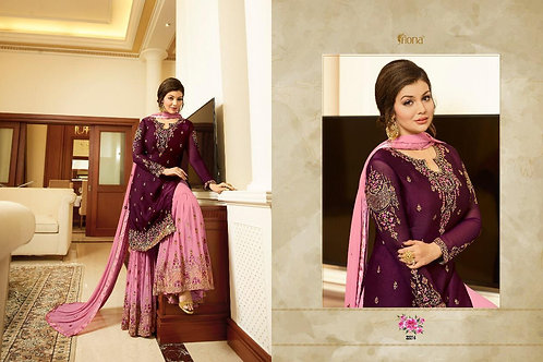 Georgette Suit With Embroidery work + Stone