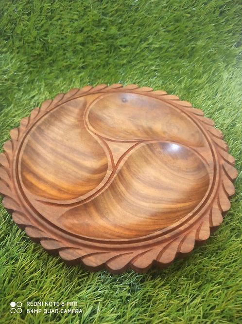 Beautiful Sheesham wood dryfruit tray with everlasting finishing