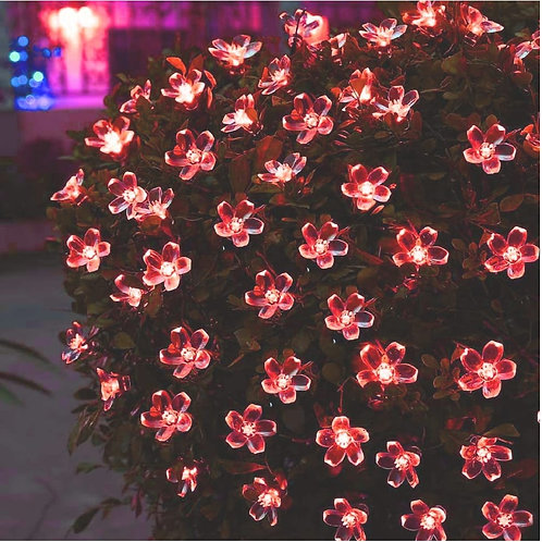 Warm white crystal flower light