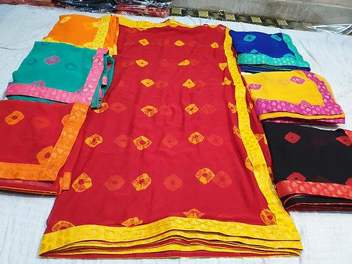 Najmeen gulti badej fabric Saree