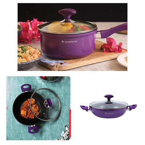 1.5LTr wonderchef non Stick Kadhai and 2Ltr non stick pan
