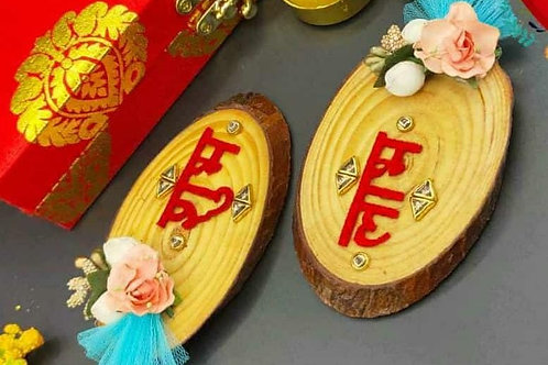 Wooden coster shubh labh