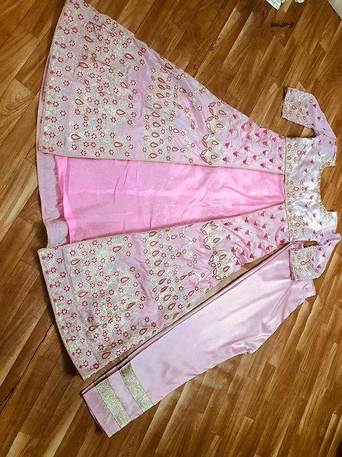HEAVY TAFFETA SILK WITH EMBROIDERY WORK DRESS