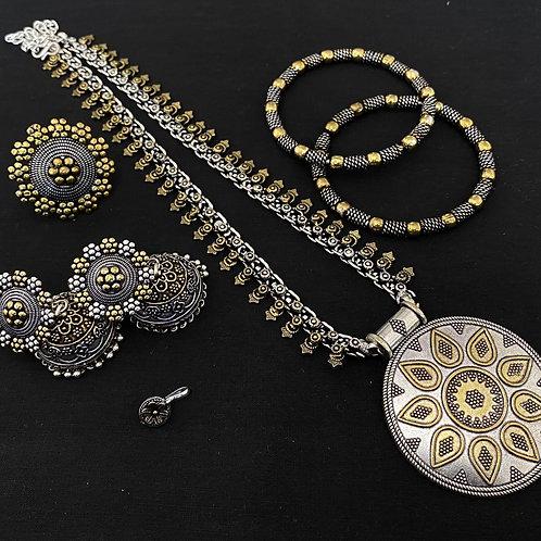 Dual tone heram Necklace combo set