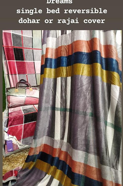 DREAMS SINGLE*Blanket Cum Dohar Cum Rajai Cover SINGLE BED DOHAR