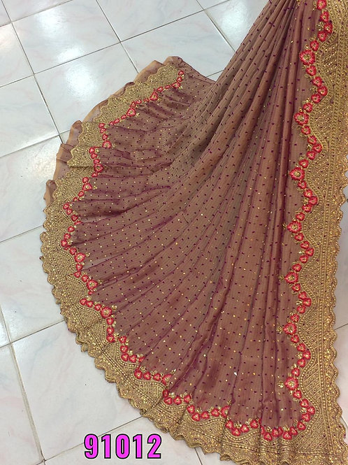 THOUSAND BUTTI WITH HEAVY EMBROIDERY WORK SAREE