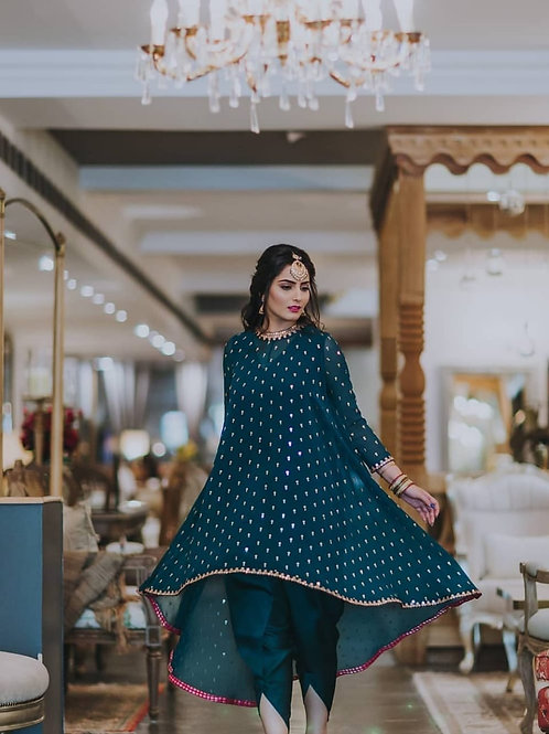 DESIGNER EMBROIDERED UPDOWN STYLE DHOYI-SUIT