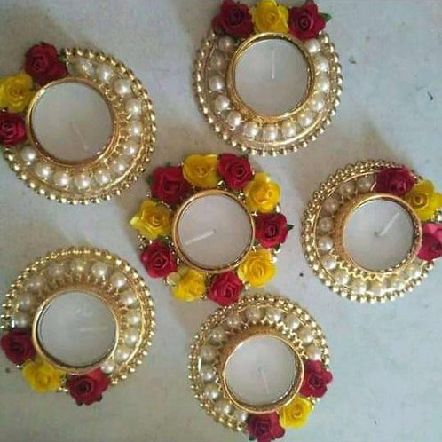 Rangoli candle holders