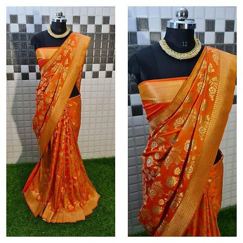 Fabriclore's PURE Jacquard fabrics with Resham zari work
