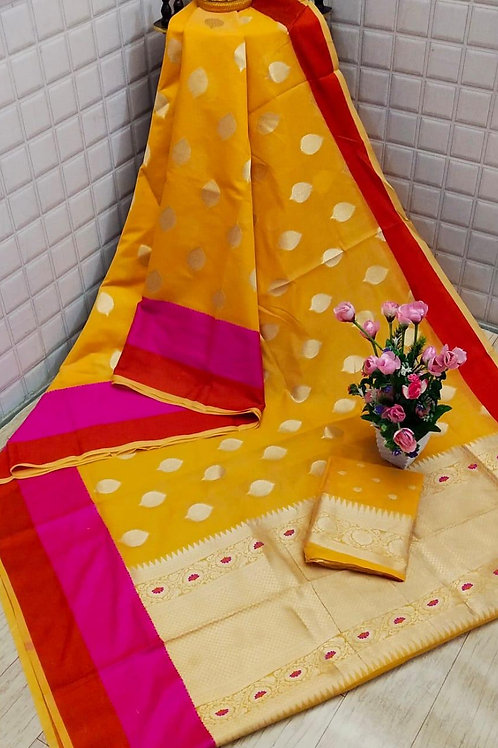 Soft cotton silk  saree  with all over JEQUARED WEAVING butta