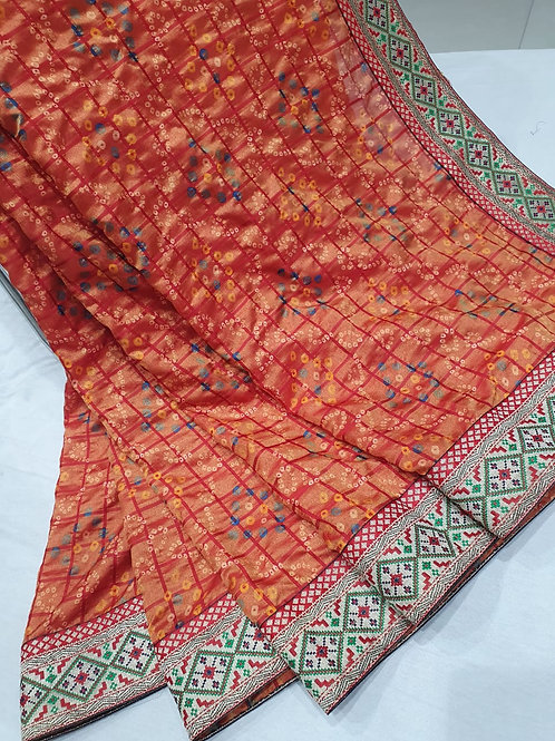 silk quality with  border design