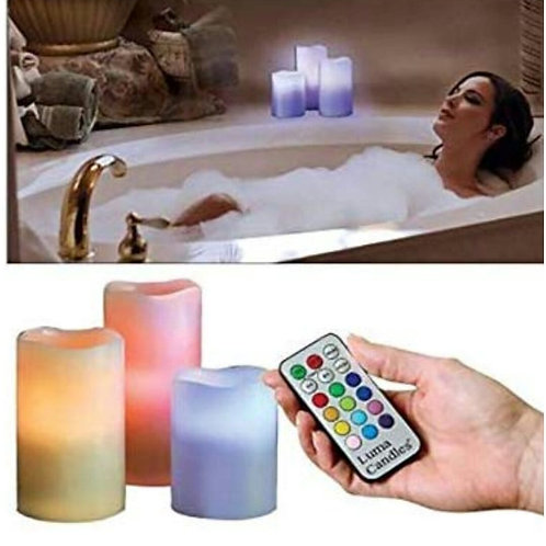 12 Colors Changing LED Candles with Remote and Timer Control