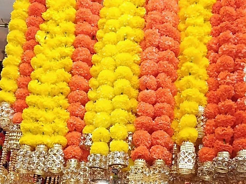 Marigold hangings with LED