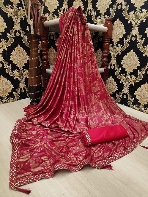 Soft Lycra saree with fabulous all over saree