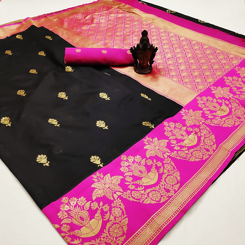 BEAUTIFUL RICH PALLU & JACQUARD WORK SAREE