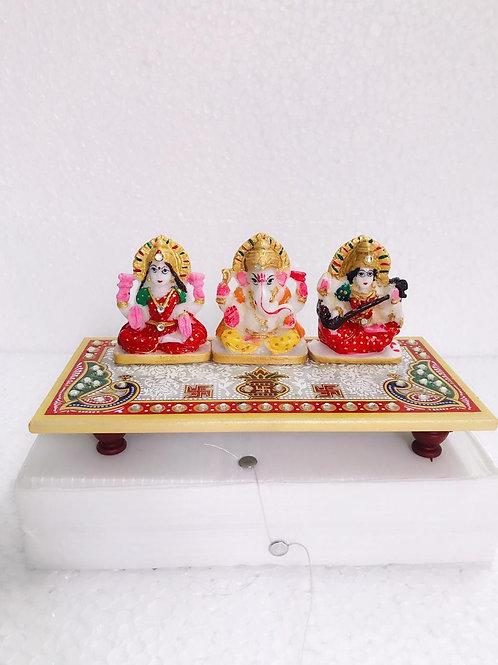 Marble Lakshmi Ganesha Chowki