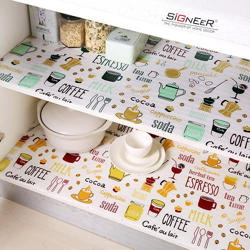 designer cute Mat Liner for Kitchen Shelf or almirah or refrigerator