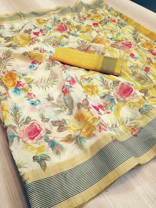 New flowers saree catalog for women