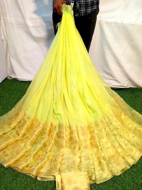 Najmin pure ceffon fabric Saree