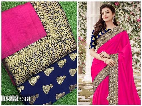 Chendri Cotton Saree With Brocade Blouse Pics