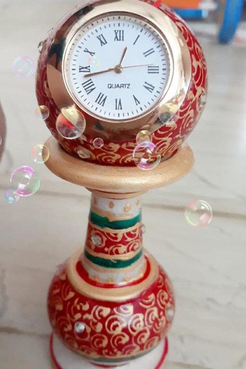 Marble Clock pillar